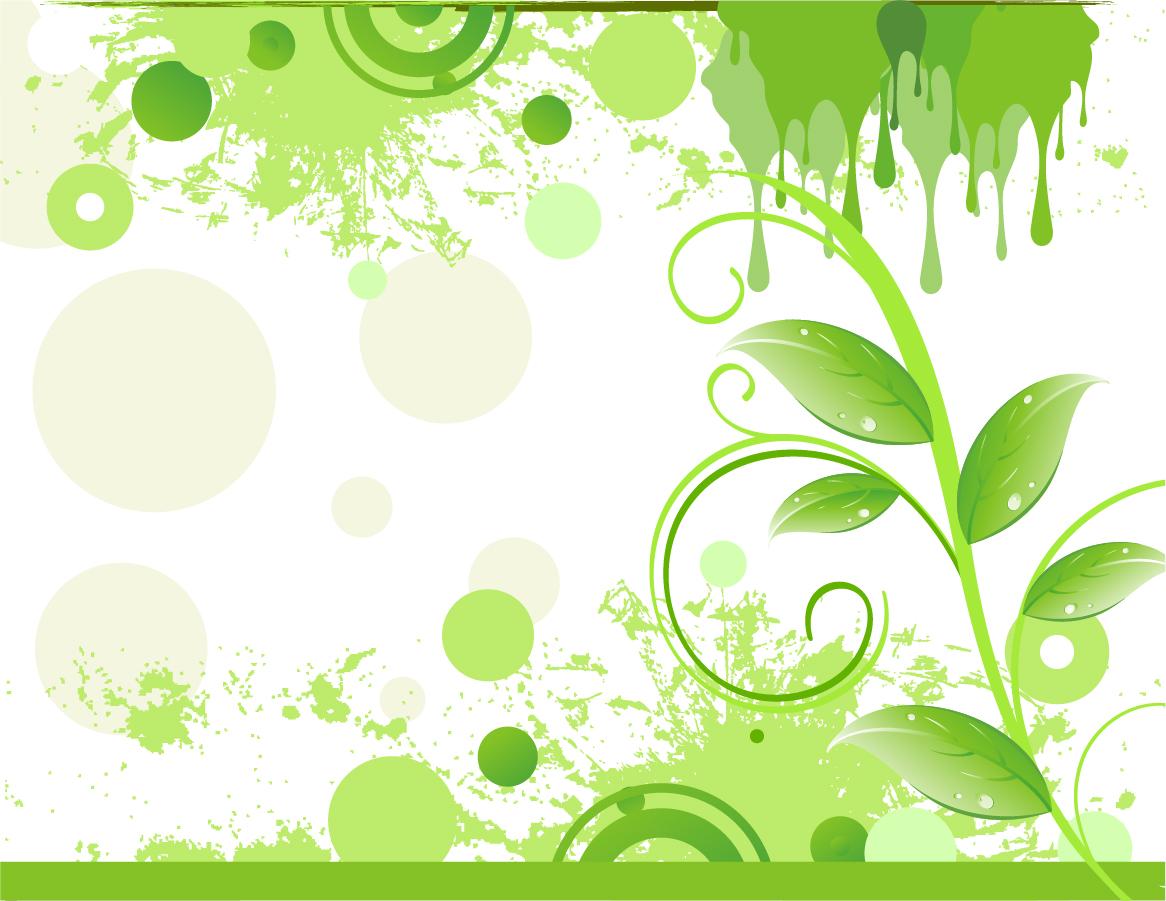 グランジスタイルの植物柄背景 abstract grunge floral background