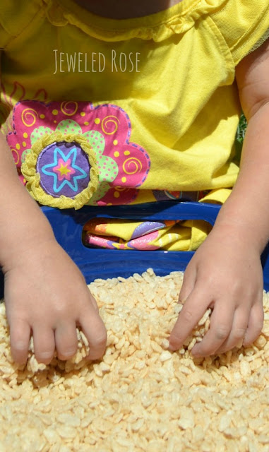 Popping Rice sensory FUN for kids
