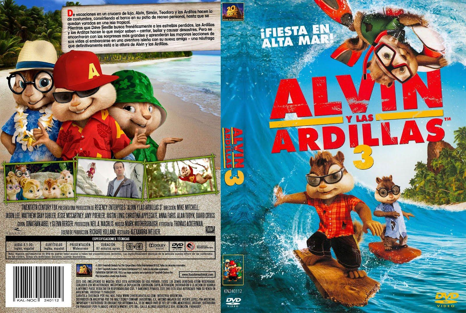 Peliculas en dvd alvin y las ardillas 3 for Alvin y las ardillas