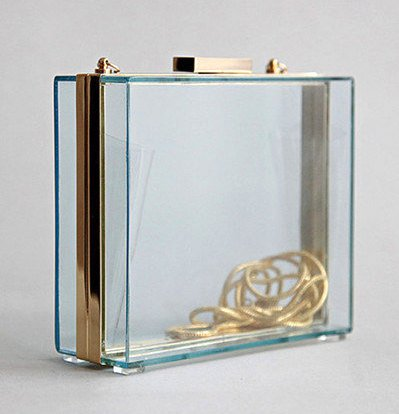 Kelnarchy on etsy, Perspex Clutch