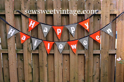 Happy Halloween bunting or banner how-to