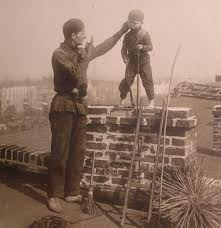 chaplain sweeping a chimney