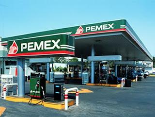 Tankstelle des Erdölkonzerns Pemex