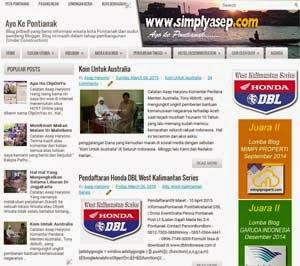 Halaman Depan Blog simplyasep