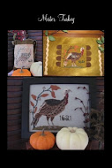 Mister Turkey, cross stitch & embroidery & punch needle