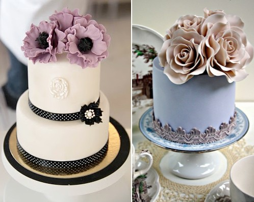 rainingblossoms mini wedding cake ideas