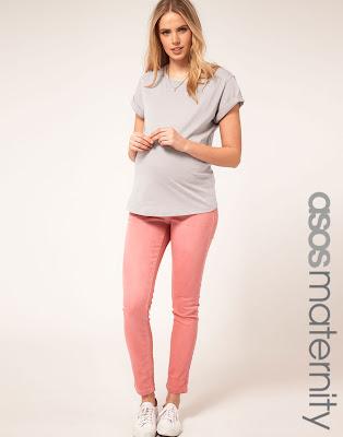 maternity pastel jeans, colour