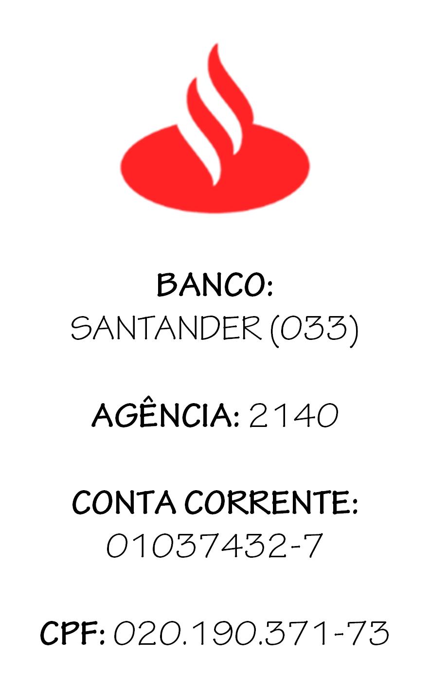 TRANSFERÊNCIA BANCÁRIA (SANTANDER)