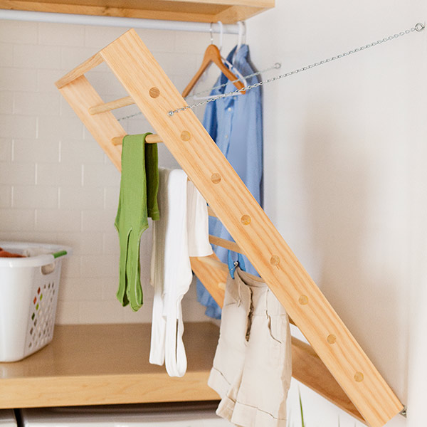 Foldaway Laundry Room Drying Rack