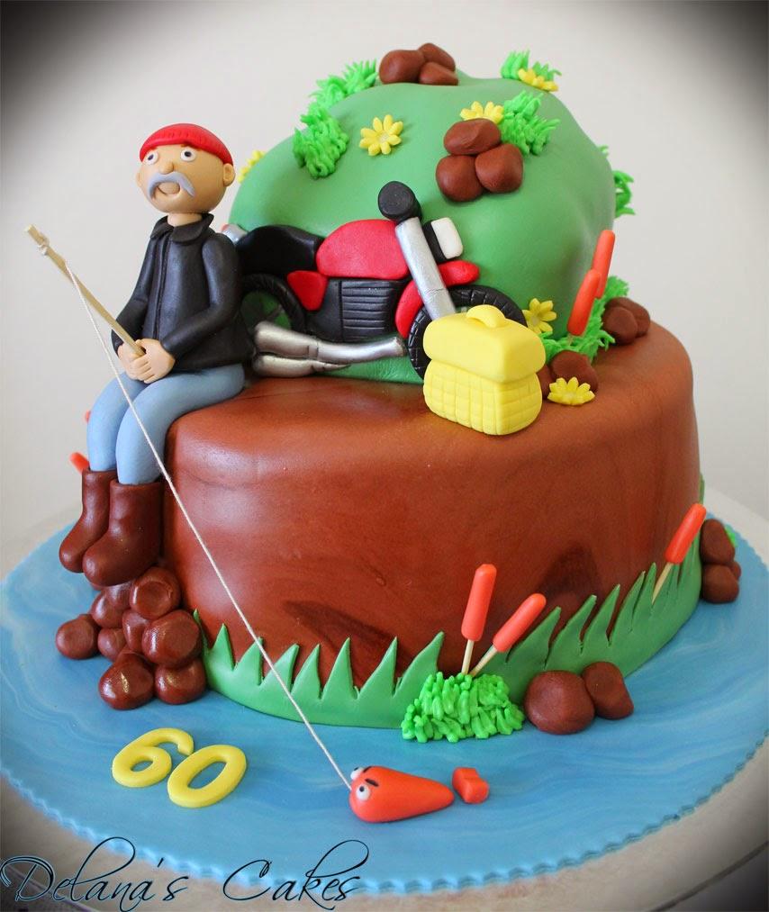 Delanas Cakes Fishing biker cake