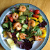 Garlic and chilli prawn salad