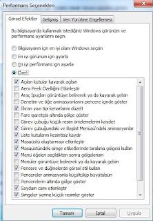 windows 7 hızlandırma