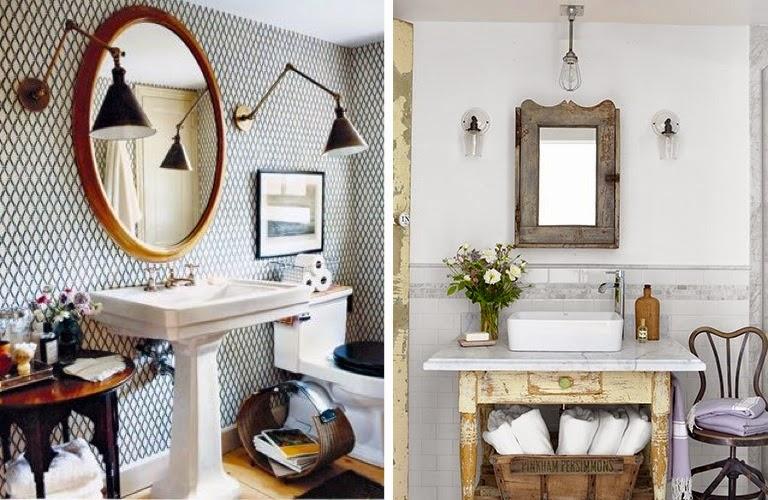 UN BON MOMENT: DECO MOMENT: Vintage en el cuarto de baño