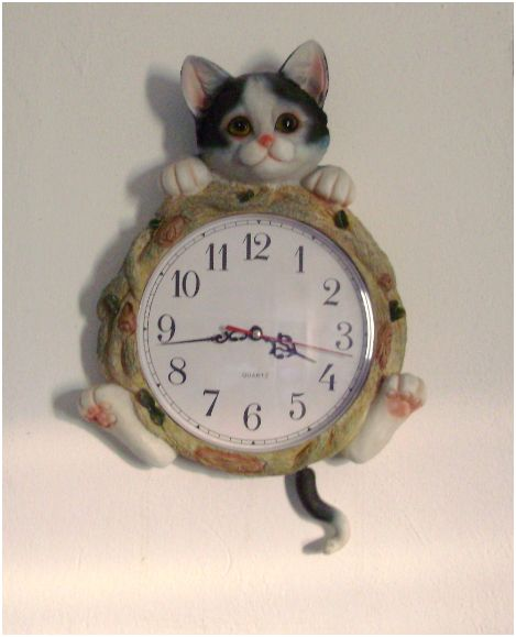 Orologio da parete thun con gatto for Lavagna con orologio thun