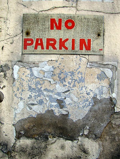no parkin, urban photography, contemporary, photo,