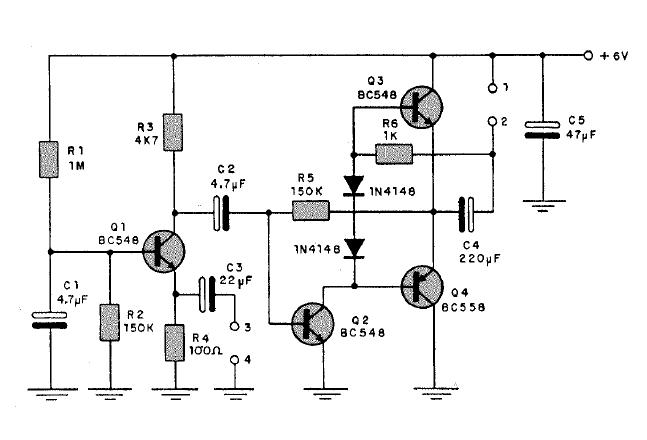 Circuito Amplificador De Audio : Electronica proyectos circuito amplificador de audio