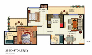 Apartment Plans 3 Bedroom In India