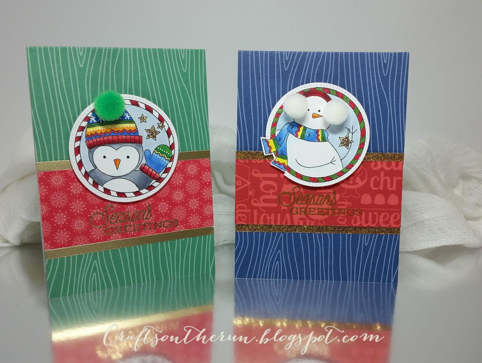 PAPERTREY INK POM POM PALS, CHRISTMAS CARDS