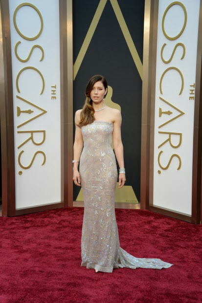 Jessica Biel Academy Awards 2014 Red Carpet Oscars Celebrity Melanie.Ps blogger Toronto The Purple Scarf