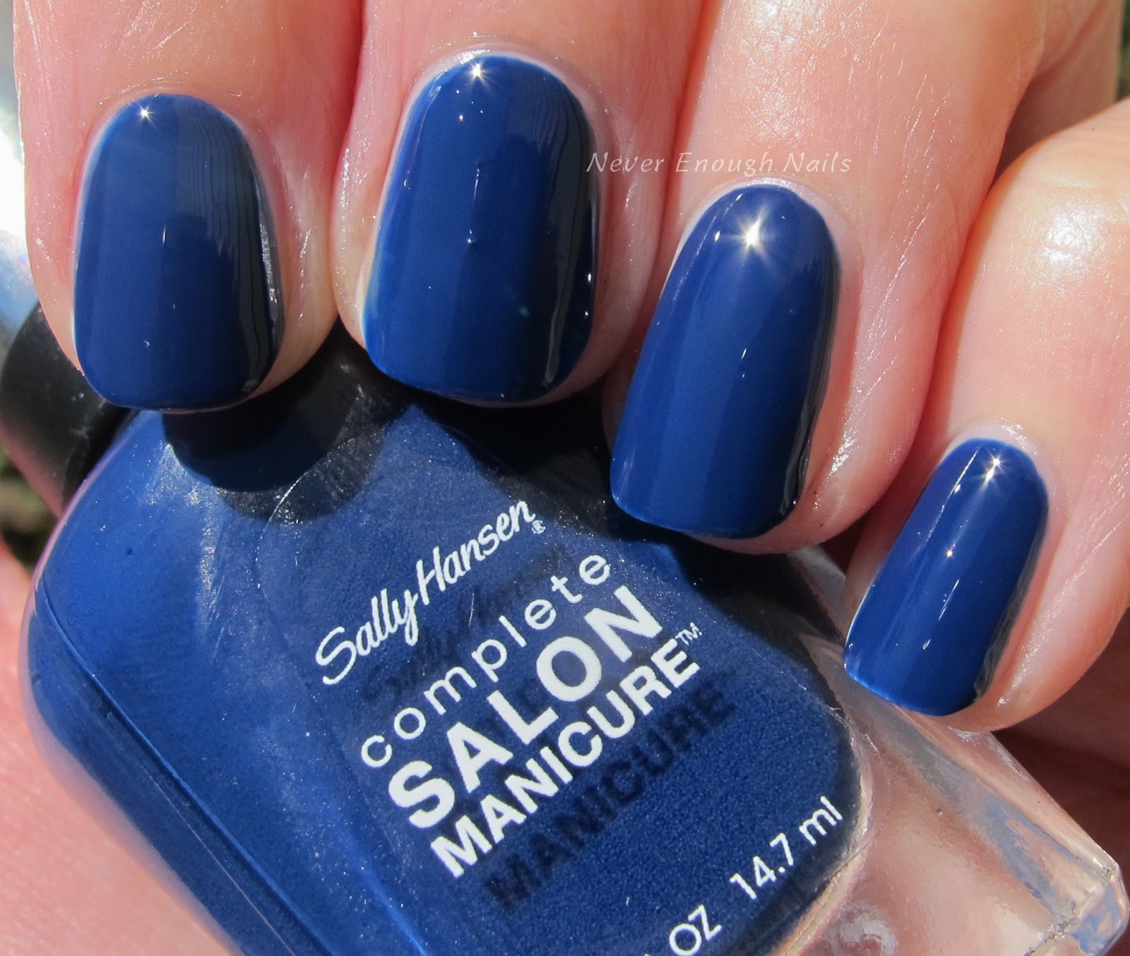 Sally Hansen Midnight Affair Is A Deep Nearly Navy Blue Creme I Would Say It S Maybe Shade Or Two Lighter Than True And Funny