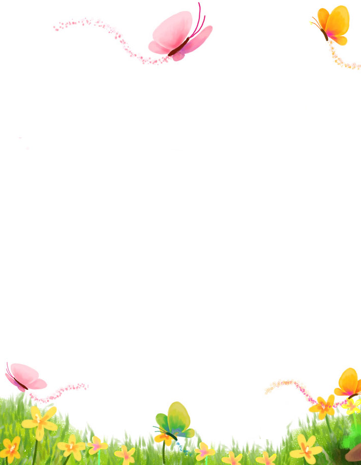 Butterfly Borders Clip Art 090612Spring Page Border Clipart