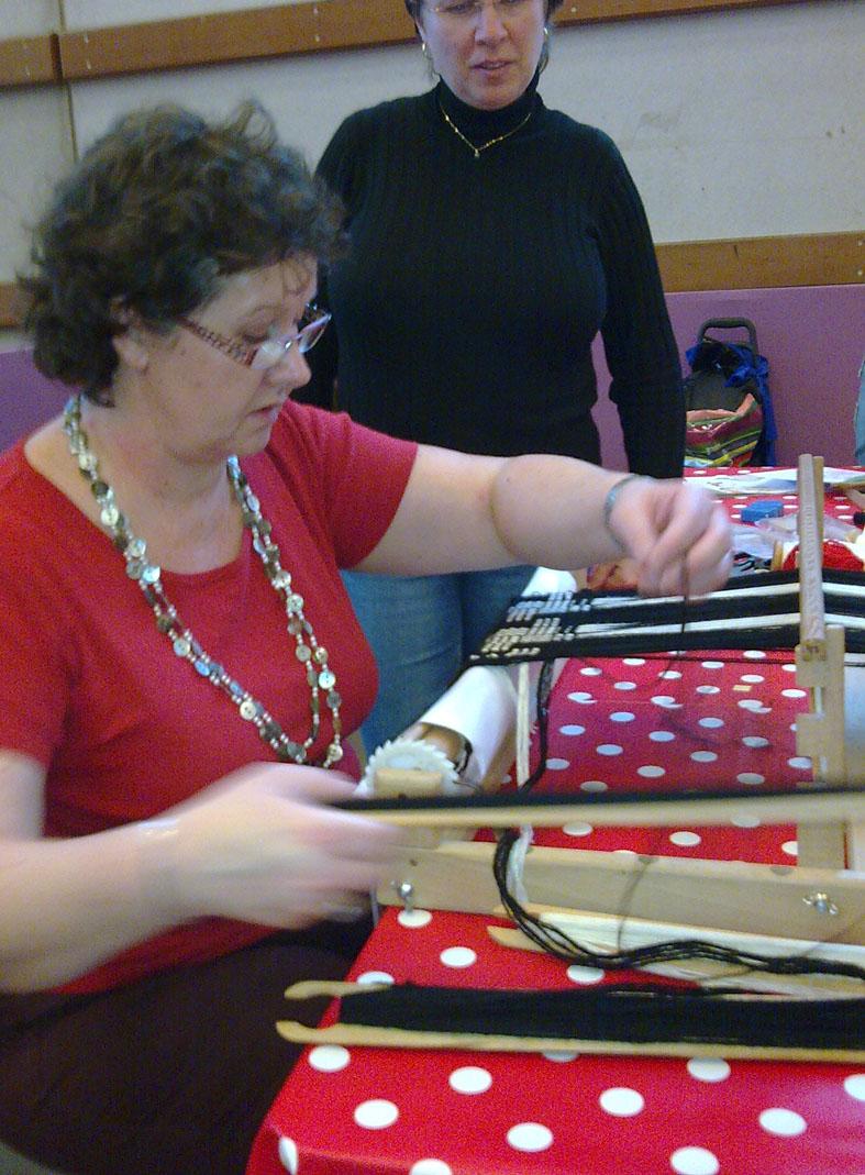 Tisssageschantal d couverte de techniques de tissage au for Salon tissage paris
