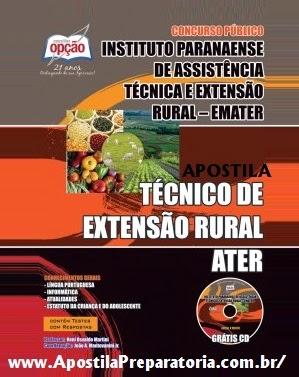 Apostila TÉCNICO DE EXTENSÃO RURAL - ATER - Concurso EMATER Edital 2014