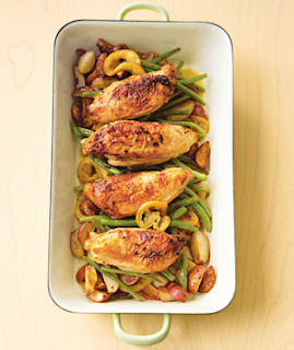 Chicken With Lemon-Garlic Green Beans Recipe