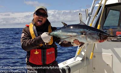 Gorge fly shop blog fly fishing for tuna oregon coast for Oregon tuna fishing report