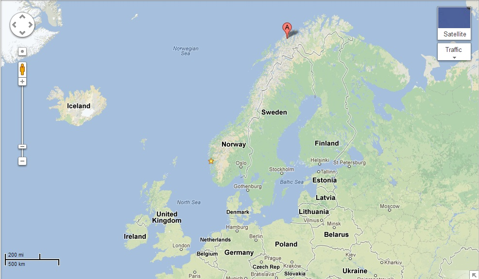 Tromso Norway Map My Blog - Norway map tromso