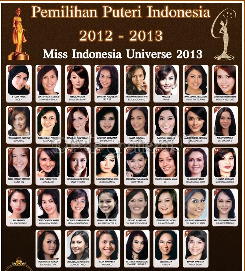 nama dan foto finalis putri indonesia 2013 lengkap updatenya