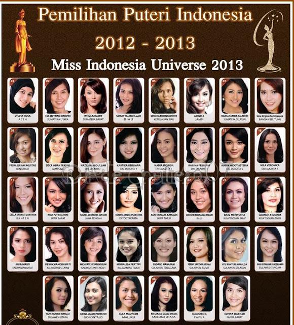 Nama Dan Foto Finalis Putri Indonesia 2013 Lengkap