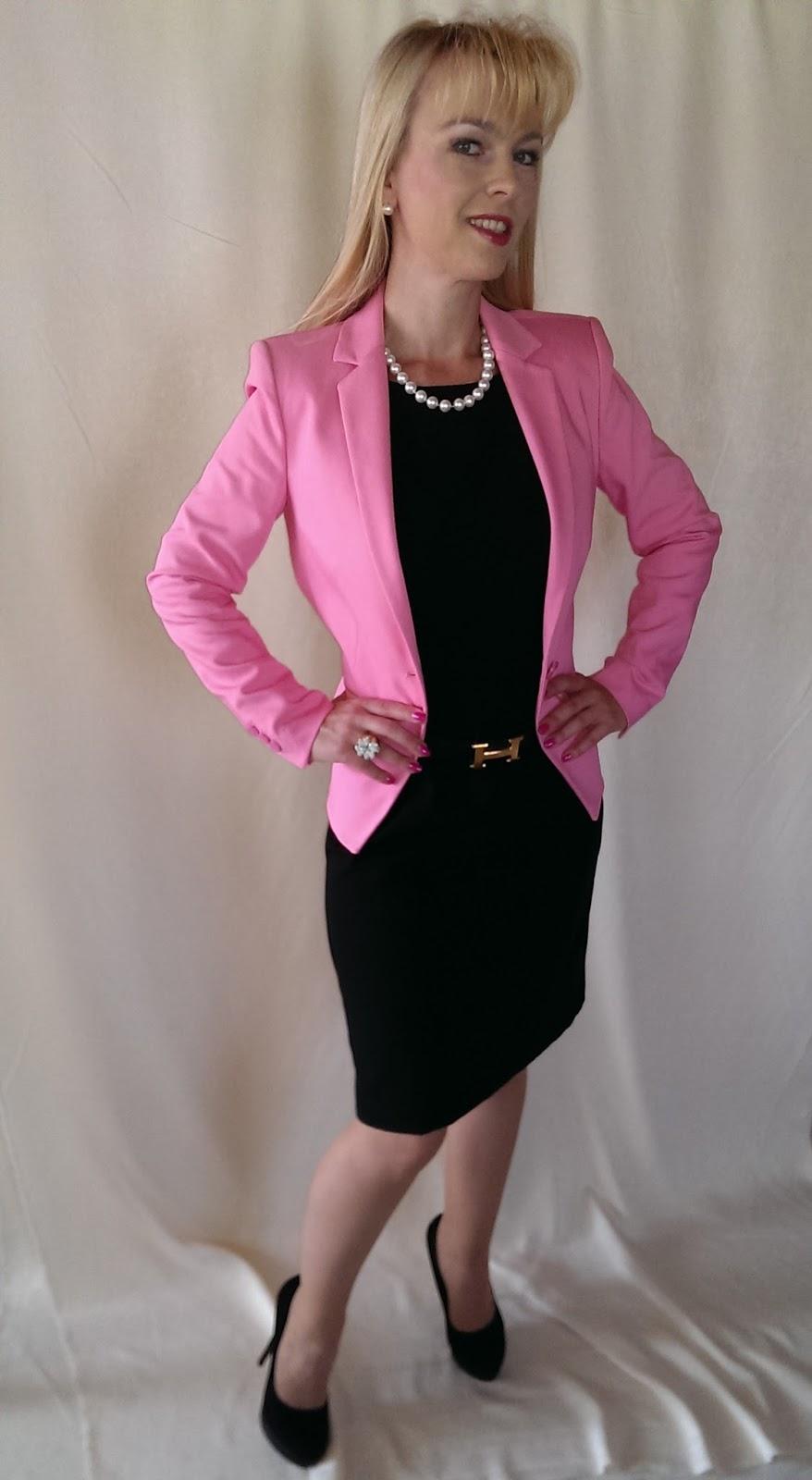 glamourous style zara blazer in baby pink. Black Bedroom Furniture Sets. Home Design Ideas