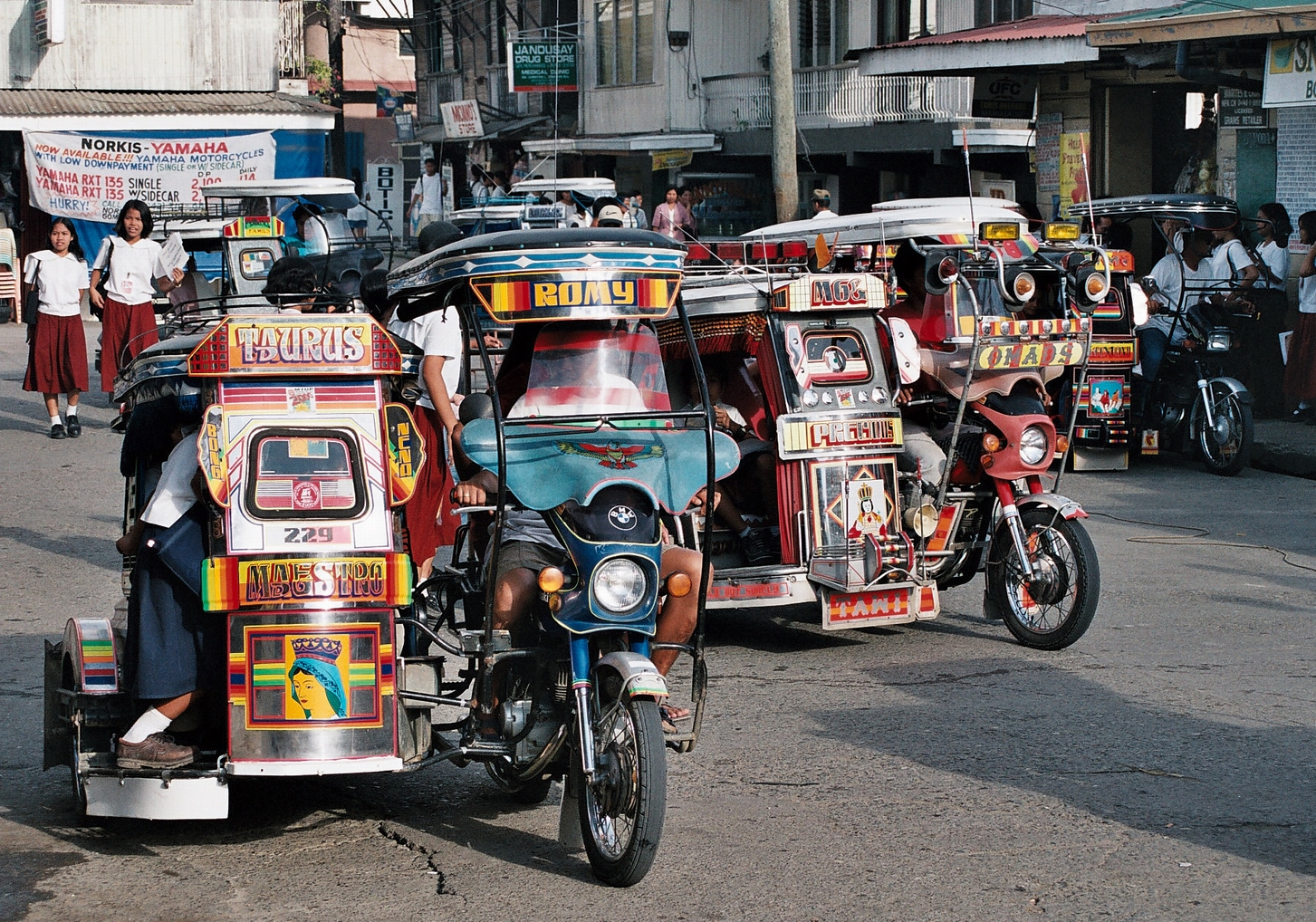 Car stickers design philippines - Philippines Sidecar Taxis