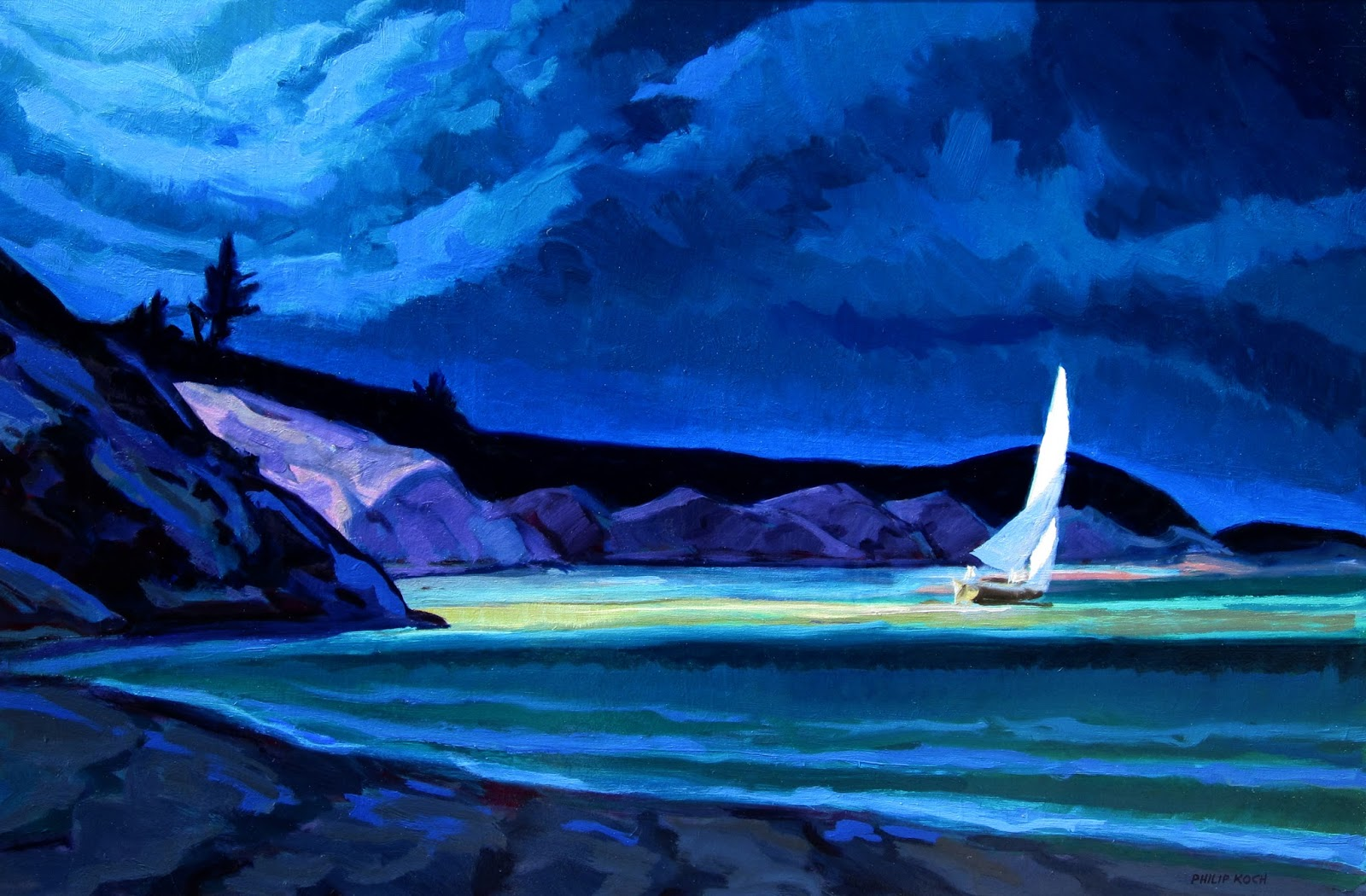 Philip Koch Paintings Sailing Lessons From Edward Hopper