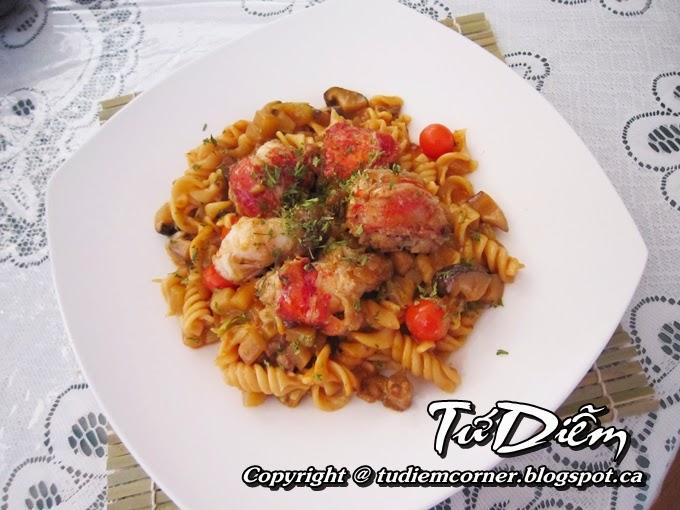 Lobster Fusilli Pasta | TuDiem's Corner