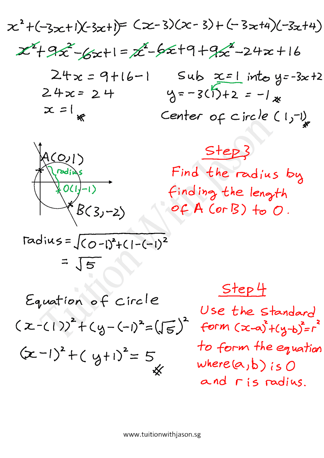 A math coordinate geometry find the equation of a circle given a math coordinate geometry find the equation of a circle given two points falaconquin