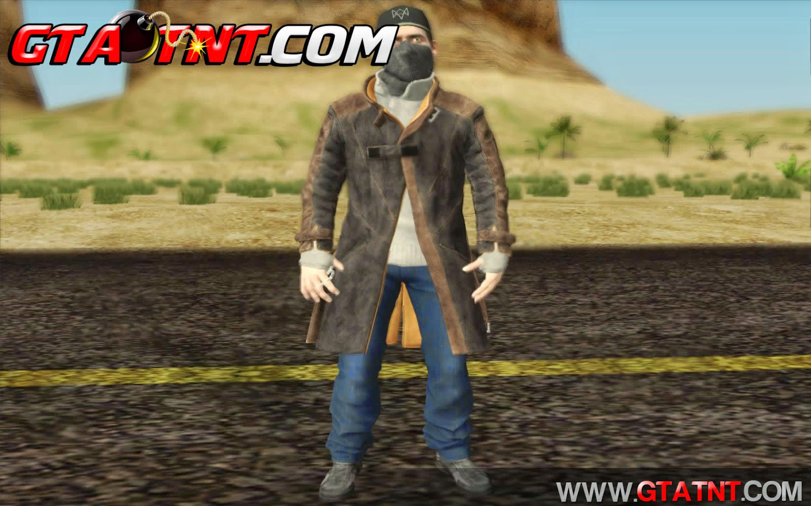 Pack de skins do Aiden Pearce Watch Dogs para GTA San Andreas