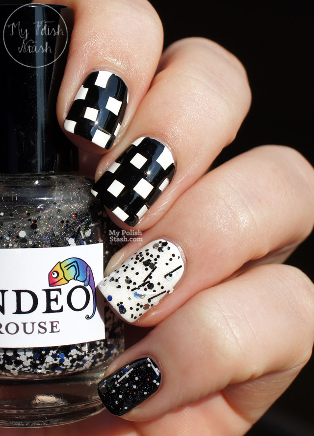 Black And White Checkered Nail Designs Black White Nail Art