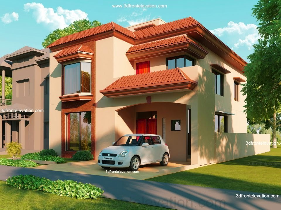 5 Marla Front Elevation Designs : D front elevation marla house plan design our office work