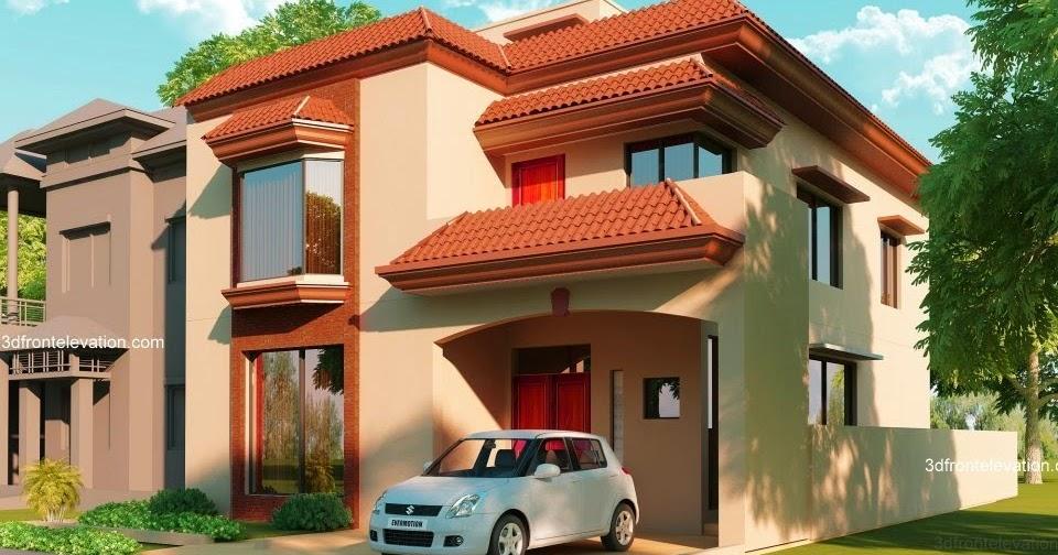 Front Elevation Design Work : D front elevation marla house plan