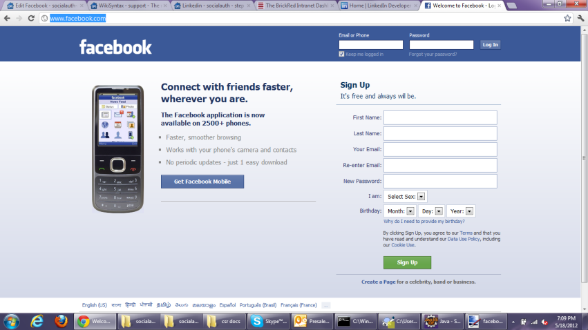 Facebook com login sign up q
