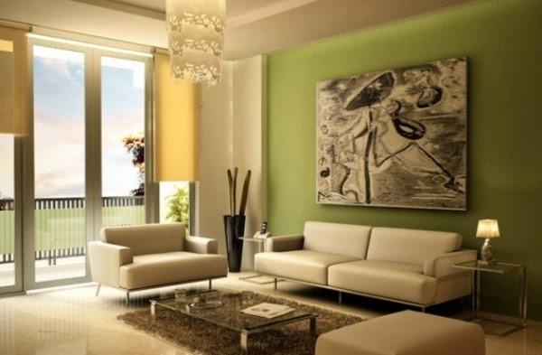 avec cette combinaison de deux couleurs froides votre salon aura lair frais et gai il est conseill de peindre votre salon avec des couleurs froides - Peindre Un Salon En Deux Couleurs