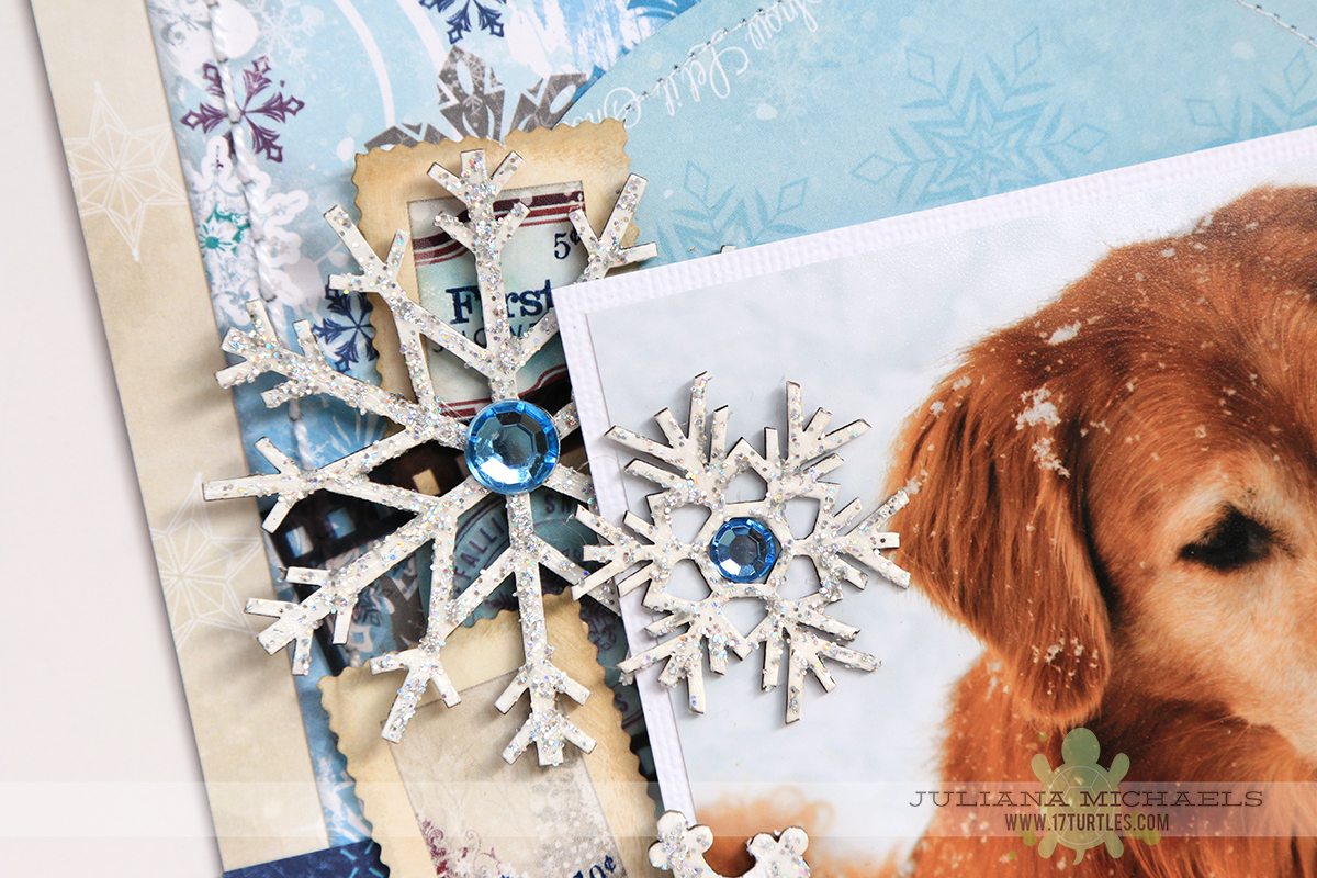 Winter Scrapbook Page by Juliana Michaels for BoBunny