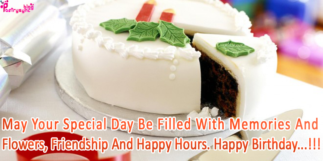 Happy Birthday Wishes With Cake Images for Friends Hindi Shayari