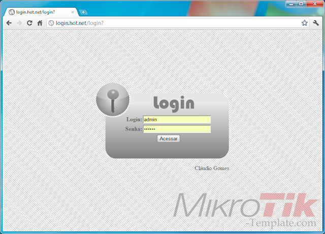 Free Download MikroTik Hotspot Login Template