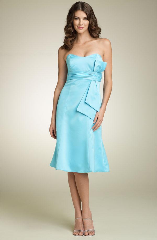 blue bridesmaid dresses