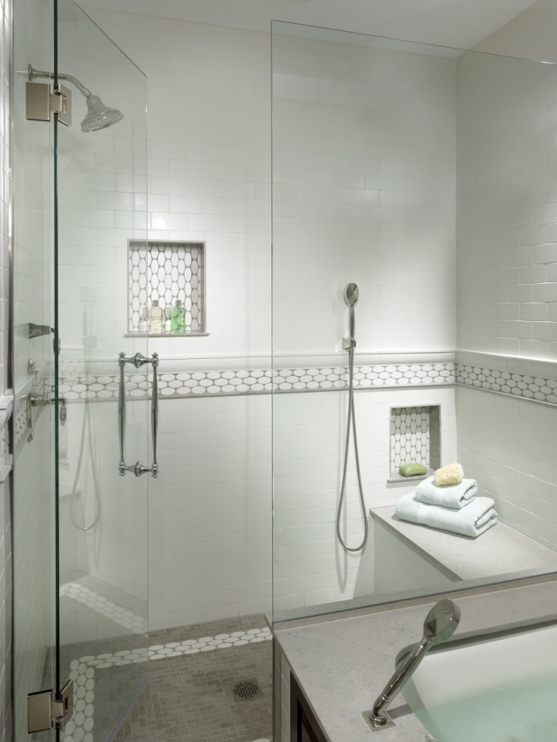 Bathroom modern bathroom tile designs with glass shelves options in - To Da Loos 10 Shower Wall Shampoo Niche Style Ideas