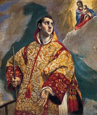 Aparición de la Virgen María a San Lorenzo Obra de El Greco.