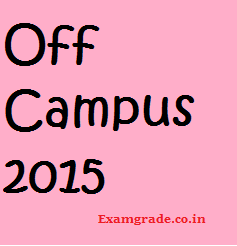 Off Campus in Chennai for 2015